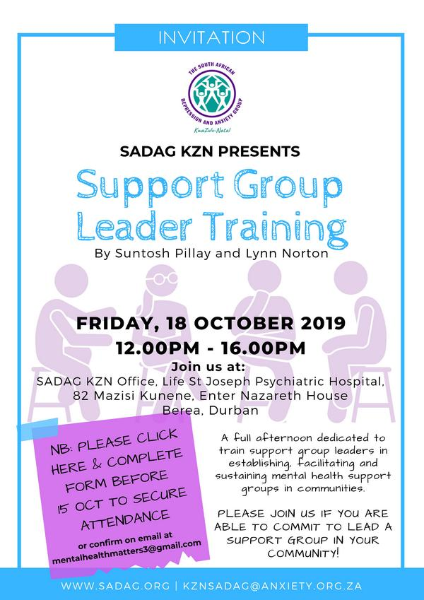 SADAG KZN SG Leader Training October 2019