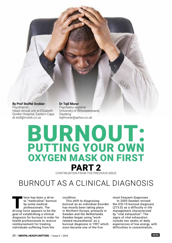 Burnout: Putting your own oxygen mask on first (Part 2)