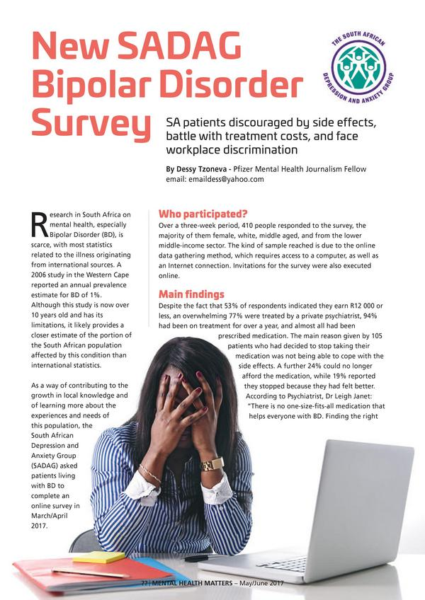 New Sadag Bipolar Disorder Survey1