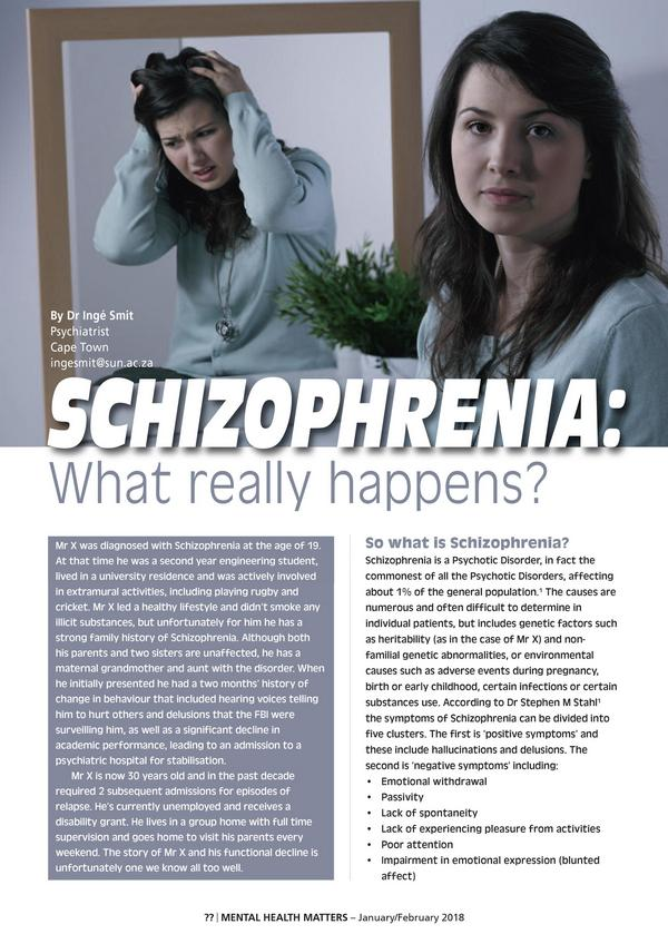 Schizophrenia What really happens1