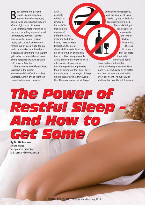 The Power of Restful Sleep An How to Get Some1