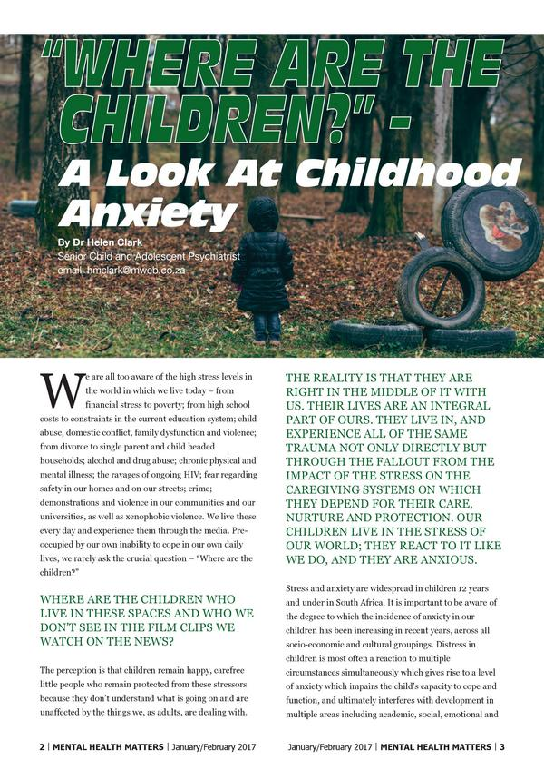 Where are the Children A Look At Childhood Anxiety 1