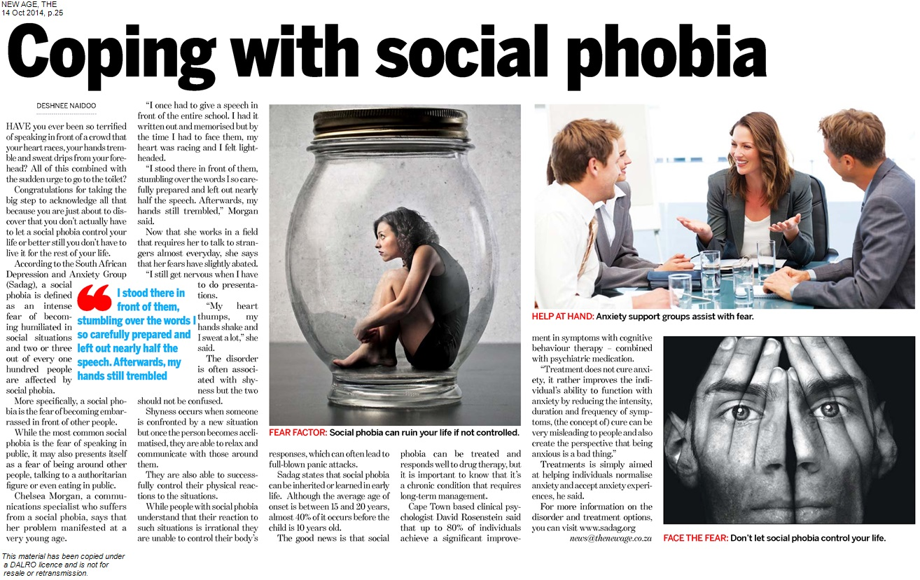 coping with social phobia