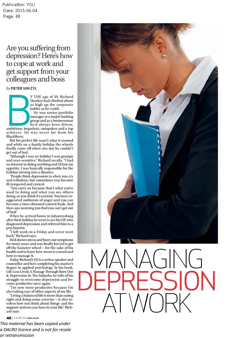 managing depression at work1