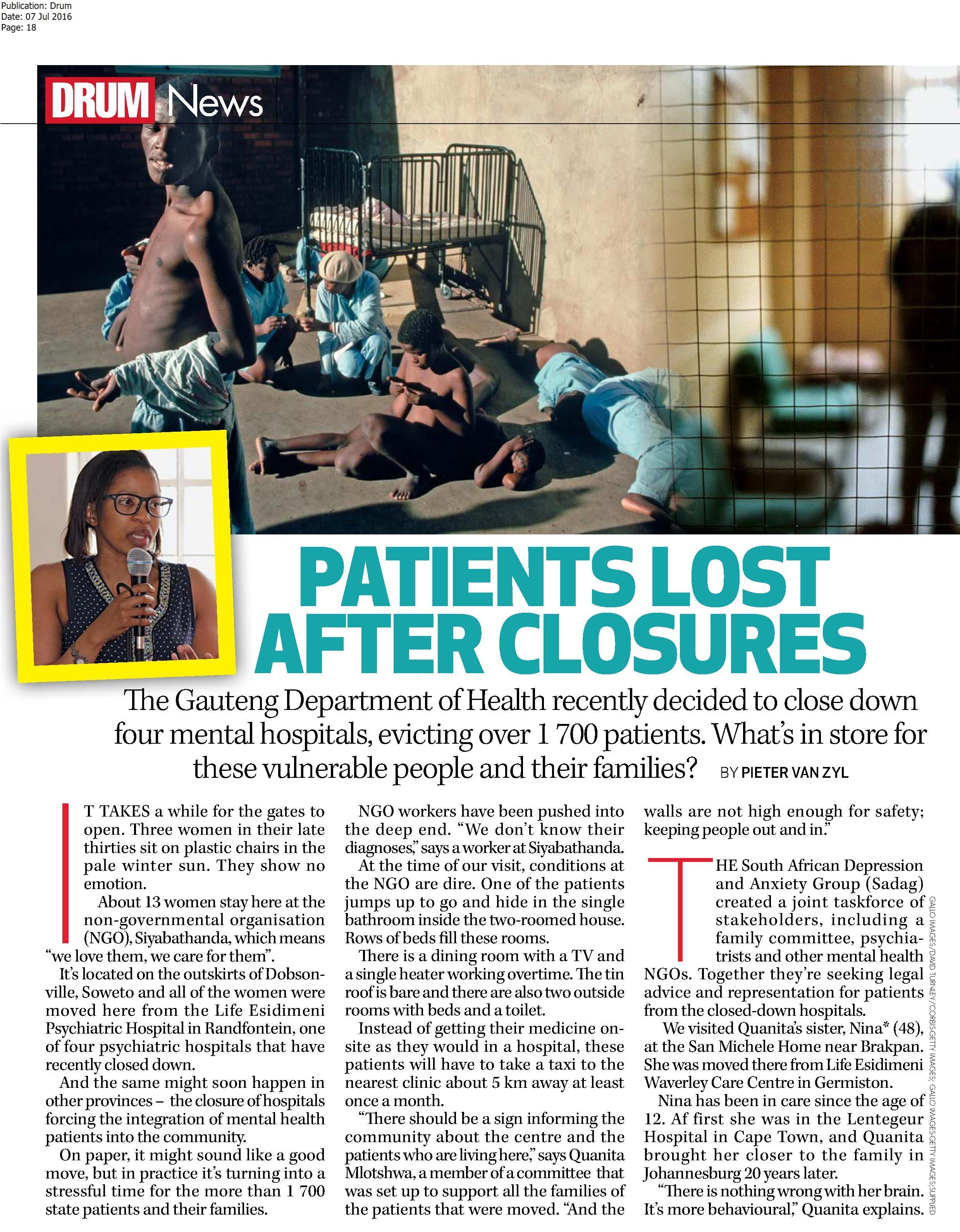 patients lost after closures1