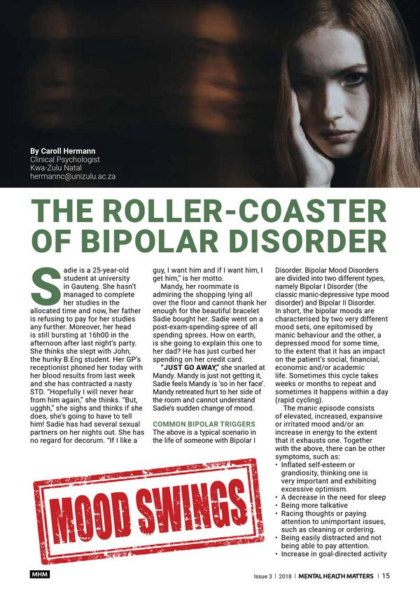 the roller coaster of bipolar disorder 1