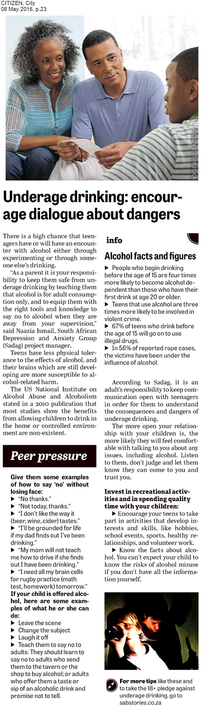 issues with teenagers and alcohol abuse